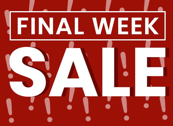 Mis je laatste kans op scherpe aanbiedingen niet van onze Final Week of Sale!