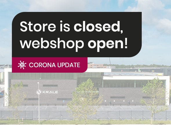 Corona update: store is closed, webshop stays stays open!