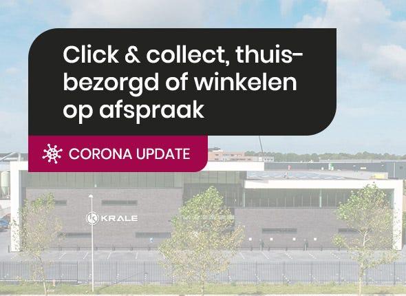 Corona update: winkelen op afspraak, webshop blijft open met click & collect!