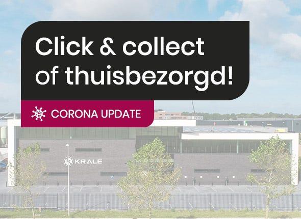 Corona update: winkel gesloten, webshop blijft open met click & collect!