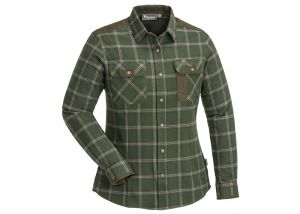 Blouse Pinewood Prestwick Exclusive Ladies Moss Green / Dark Brown