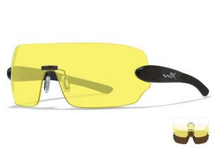 Glasses Wiley X Detection Clear / Yellow / Copper Black Frame