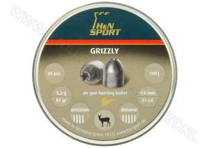 Luchtdrukkogeltjes H&N Grizzly 9 mm 82 grain