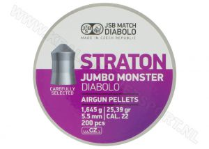 Luchtdrukkogeltjes JSB Diabolo Straton Jumbo Monster 5.5 mm 25.39 grain