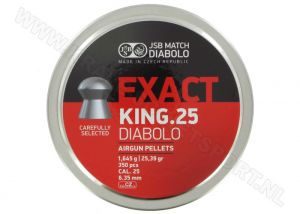 Airgun Pellets JSB Exact King 6.35 mm 25.4 grain