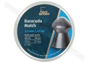 Luchtdrukkogeltjes H&N Baracuda Match 5.5 mm 21.14 grain