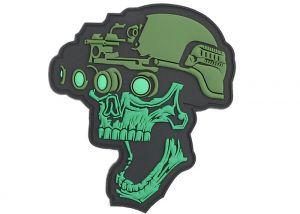 Patch 3D PVC Night Vision Skull