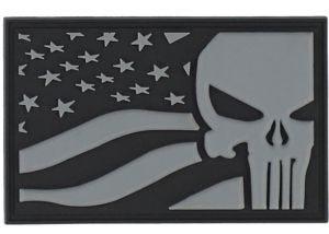 Patch 3D PVC Punisher USA Flag