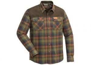 Shirt Pinewood Douglas Hunting Olive / Terracotta