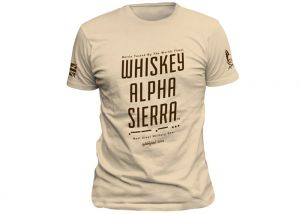 T-shirt Warrior Assault Systems Wiskey Alpha Sierra Coyote Tan