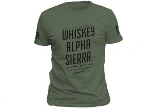 T-shirt Warrior Assault Systems Wiskey Alpha Sierra Olive Green