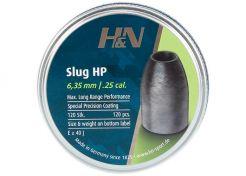 Airgun Slugs H&N 6.35 mm HP 28 grain (.249)