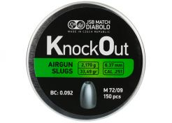 Airgun Slugs JSB Knock Out 6.37 mm 33.49 grain (.251)