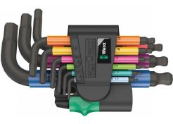 Allen Key Set Wera Hex-Plus Multicolour Blacklaser 950/9 9-piece