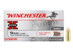 Kogelpatronen Winchester Super-X  9 mm Luger FMJ 124 grain