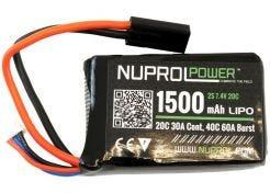 Batterij Nuprol LiPo 7.4v 1500mAh Peq Micro