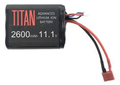 Batterij Titan Li-ion 11.1V 2600mAh Brick T-Plug Deans
