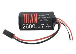 Battery Titan Li-ion 7.4V 2600mAh Brick Mini-Tamiya