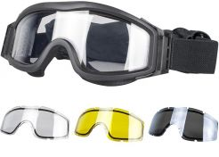 Glasses Valken V-Tac Tango Thermal Clear/Yellow/Grey with optical insert Black Frame