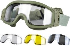 Glasses Valken V-Tac Tango Thermal Clear/Yellow/Grey with optical insert Olive Frame