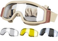 Glasses Valken V-Tac Tango Thermal Clear/Yellow/Grey with optical insert Tan Frame