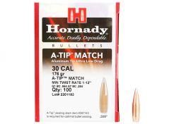 Kogelkoppen Hornady A-Tip Match .30 BT 176 grain