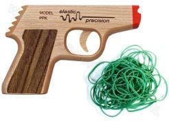 Rubber Band Pistol PPK Precision