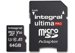 Geheugenkaart Integral UltimaPro MicroSD 64GB