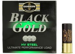 Shotgun Ammo Gamebore Black Gold Steel cal. 12 28 grams