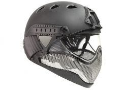 Helm Warq Full Face Black