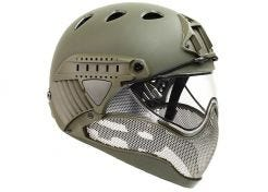 Helm Warq Full Face Khaki