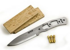 Knife Making Kit Casström No. 10 SFK Curly Birch Carbon Steel