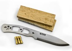 Knife Making Kit Casström No. 10 SFK Curly Birch Stainless Steel