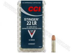Kogelpatronen CCI Stinger HV .22 LR Copper Plated HP 32 Grain