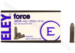 Ammunition Eley Force .22 LR 42 grain