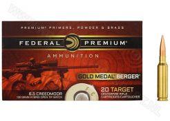 Kogelpatronen Federal Premium Gold Medal 6.5 Creedmoor OTM 130 grain