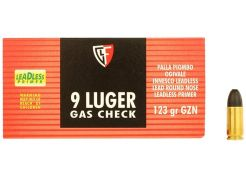 Kogelpatronen Fiocchi Gas Check 9 mm RN 123 grain