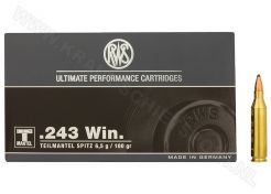 Kogelpatronen RWS .243 Win SP 100 grain