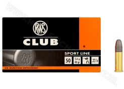 Ammunition Rws Club .22 LR RN 40 grain