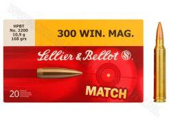 Kogelpatronen Sellier & Bellot .300 Win Mag Match HPBT 168 grain