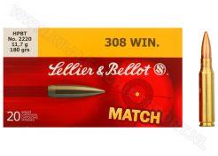 Kogelpatronen Sellier & Bellot .308 Win Match HPBT 180 grain