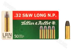 Kogelpatonen Sellier & Bellot .32 S&W-Long LRN 100 grain