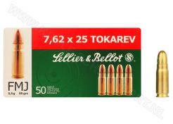 Ammunition Sellier & Bellot 7.62x25 Tokarev FMJ 85 grain