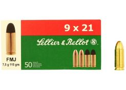 Ammunition Sellier & Bellot 9x21 FMJ 115 grain