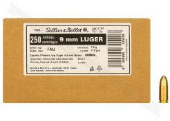 Ammunition Sellier & Bellot Bulk 9 mm FMJ 115 grain
