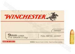 Ammunition Winchester 9 mm FMJ 115 grain