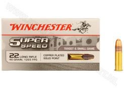 Ammunition Winchester Super Speed .22 LR CPSP 40 grain