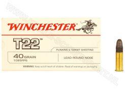 Kogelpatronen Winchester T22 .22 LR RN 40 grain