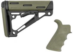 Stock Hogue AR15 OMCB Mil-Spec with grip OD Green