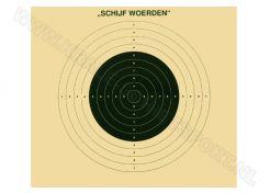 Kruger Groot kaliber geweer schijf 100 m, Woerden (ongenummerd)